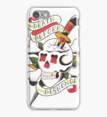 Death Before Dishonor iPhone Case/Skin