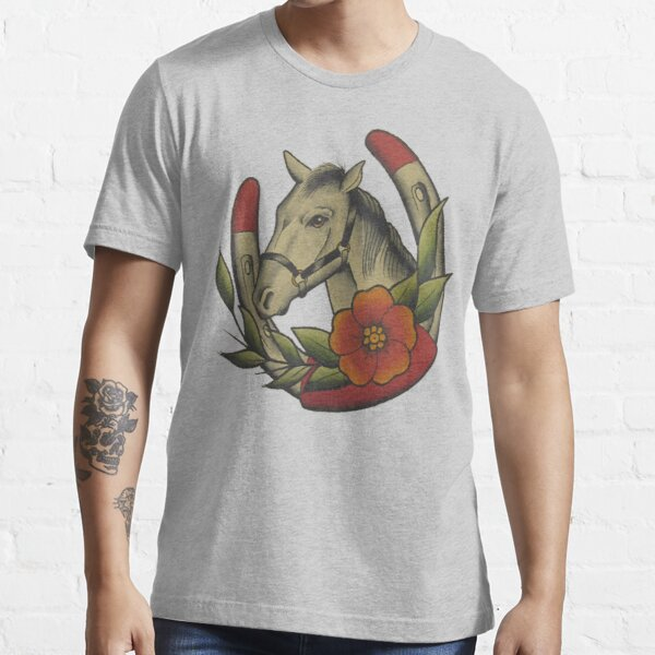 Traditional Horse and Horse Shoe Essential T-Shirt