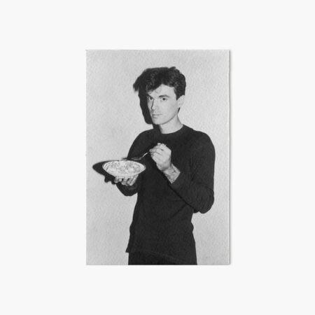 David Byrne eating cereal Art Board Print