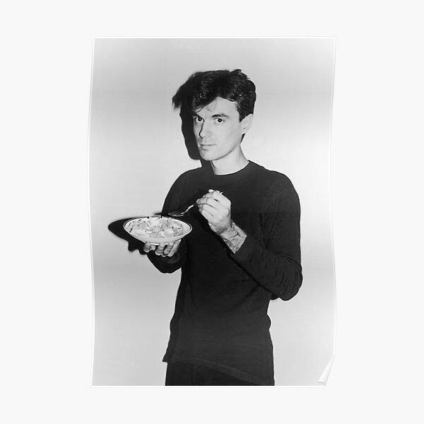 David Byrne eating cereal Poster
