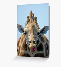 """""""I Don't Care"""" Giraffe Card Greeting Card"""