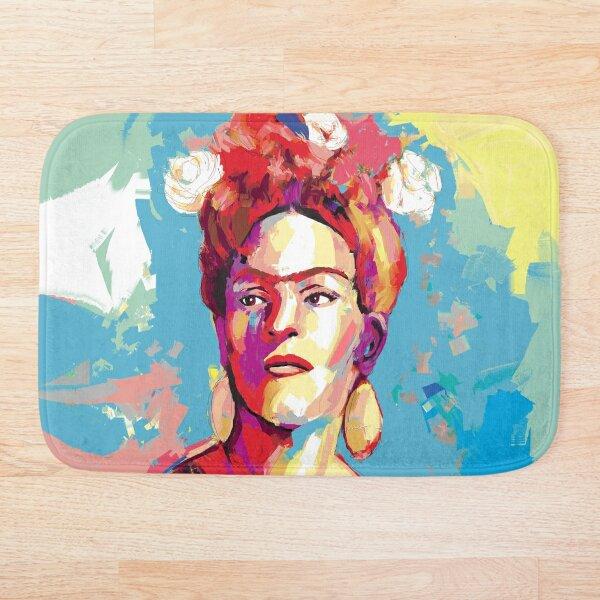 Frida Kahlo Bath Mat By Artmailsoncello Redbubble
