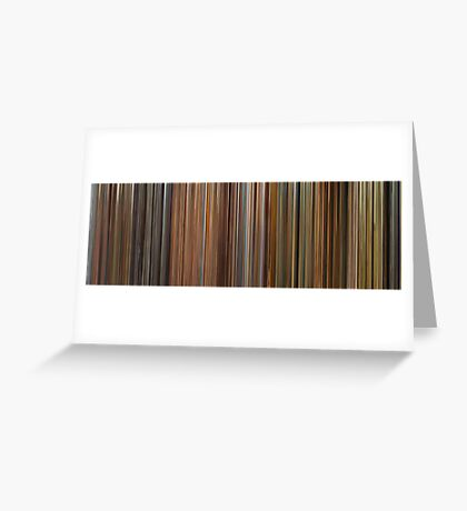 Moviebarcode: The Complete Wes Anderson (1994-2012) Greeting Card