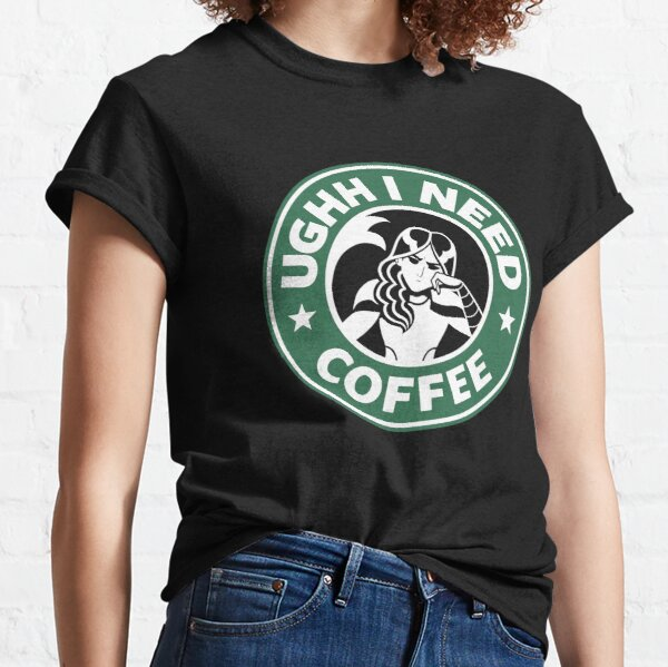 "Mermista ""Ughh I Need Coffee"" Classic T-Shirt"