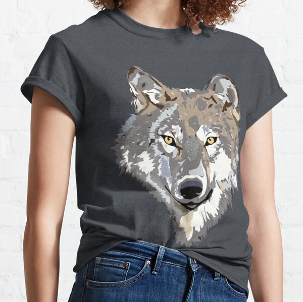 wolf tshirt mask new year Classic T-Shirt