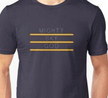 Mighty sky god Unisex T-Shirt