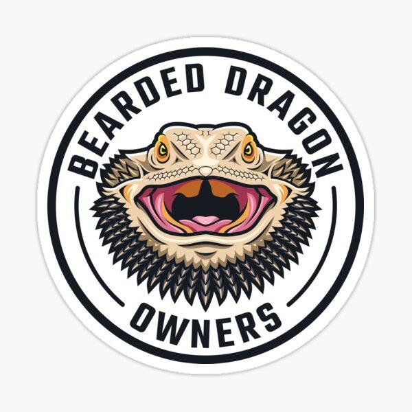 Bearded Dragon Owners Logo Sticker