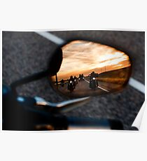 Motorcycle Rearview Poster