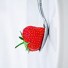 Strawberry on a plate by BenRobsonHull