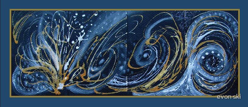 Abstract Decorative Screen by evon ski