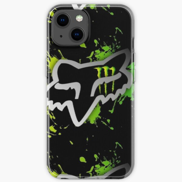Black fox iPhone Soft Case