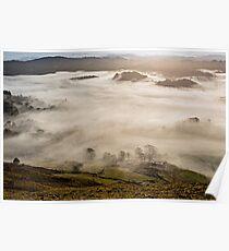 Foggy Little Langdale - Cumbria Poster