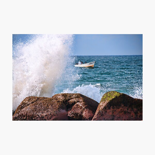 Coastline Fishing Photographic Print