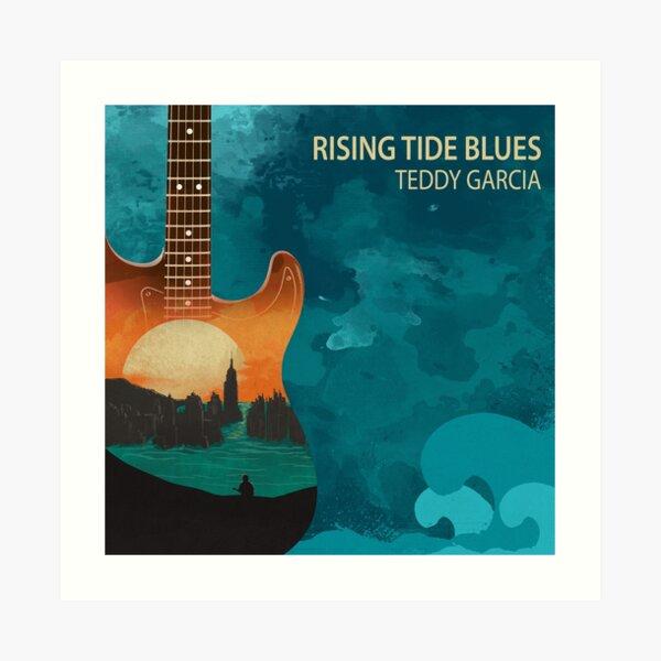Rising Tide Blues - Aqua Art Print