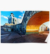 Lighthouse  in Fort El Morro Poster