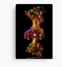 Grape reflections Canvas Print