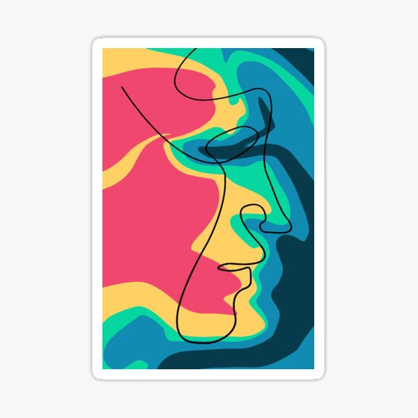 Abstract Line Face Sticker