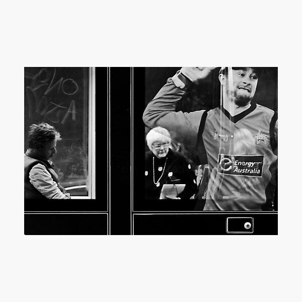Life inside, outside and onside of a tram... Photographic Print