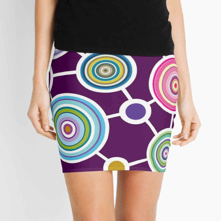 ROUND CONNECTION Mini Skirt