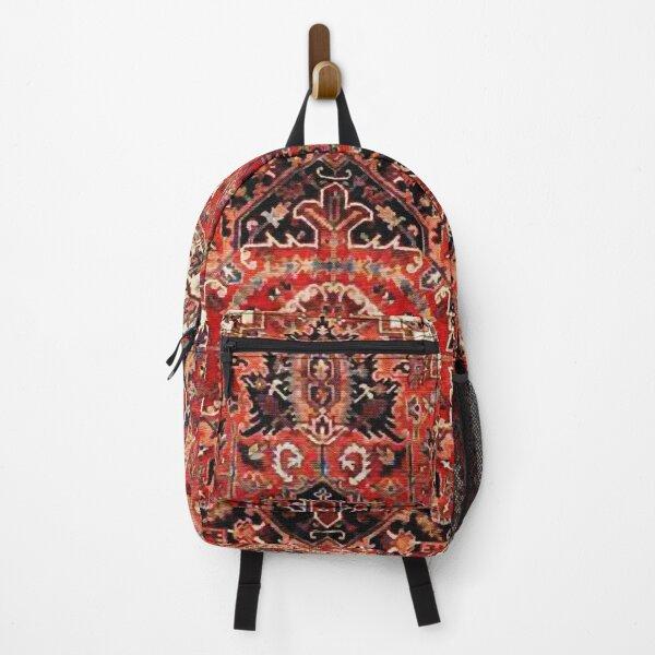 Heriz Antique Vintage Boho Persian Carpet Print Backpack