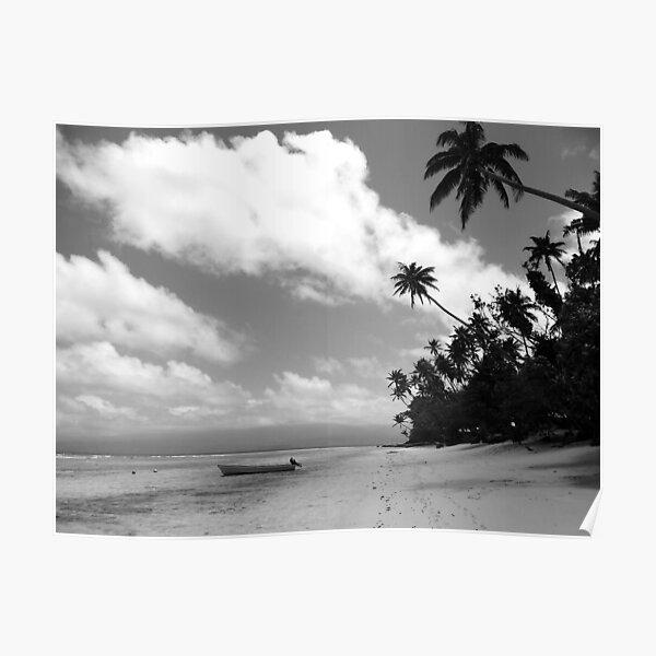 Paradise in Black & White Poster