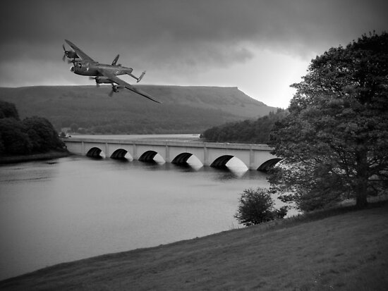 Lancaster Over Ladybower by Colin  Williams Photography