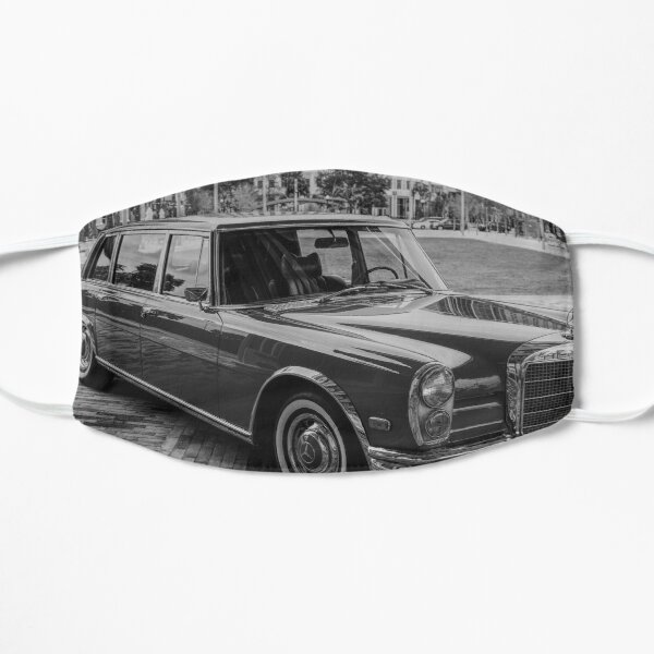 Classic Merc Limo in The City Flat Mask