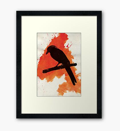 Dark Wings, Dark Words. Framed Print