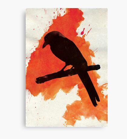 Dark Wings, Dark Words. Canvas Print