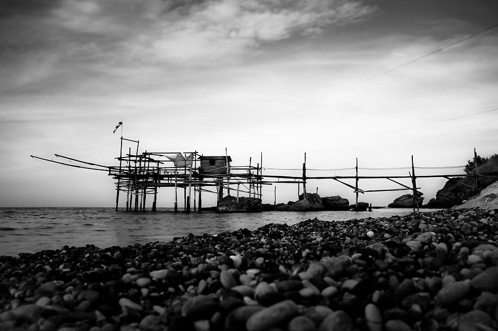 Italian fishing house on stilts by tpfeller