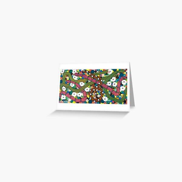 SNAKES IN MY FLOWER GARDEN Greeting Card