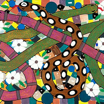 SNAKES IN MY FLOWER GARDEN by JaneAParis