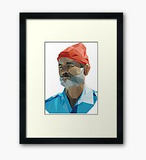 The Life Aquatic with Steve Zissou geometric low poly portrait - Bill Murray Framed Print