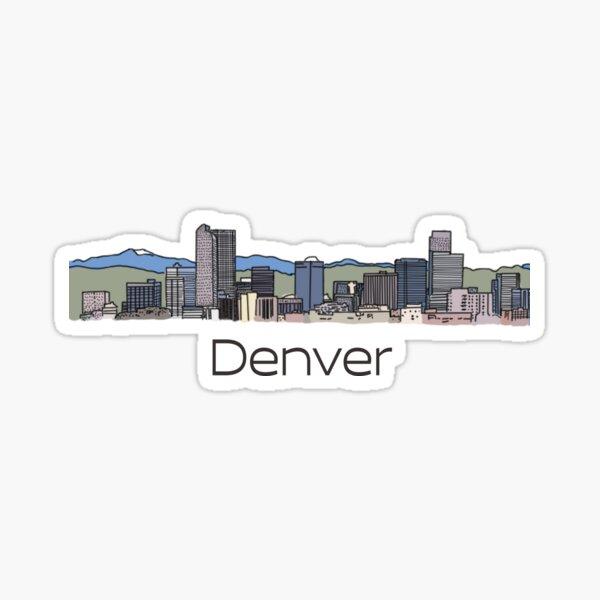 Hand Drawn Denver Skyline Sticker