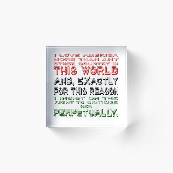James Baldwin Quote Acrylic Block