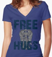 Just one touch Women's Fitted V-Neck T-Shirt