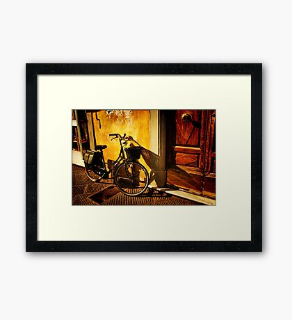 On the Streets of Pisa Framed Print