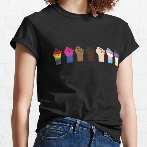 Intersectional Pride Fists ☆ LGBTQ + Black Lives Matter Classic T-Shirt