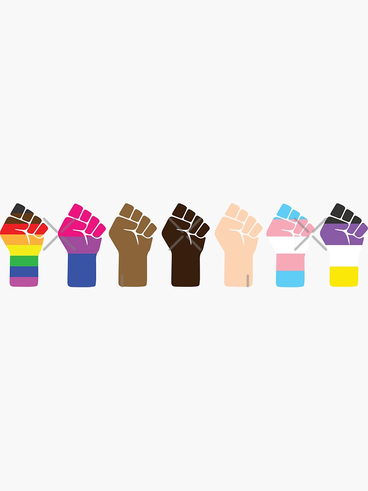 Intersectional Pride Fists ☆ LGBTQ + Black Lives Matter by averydavage