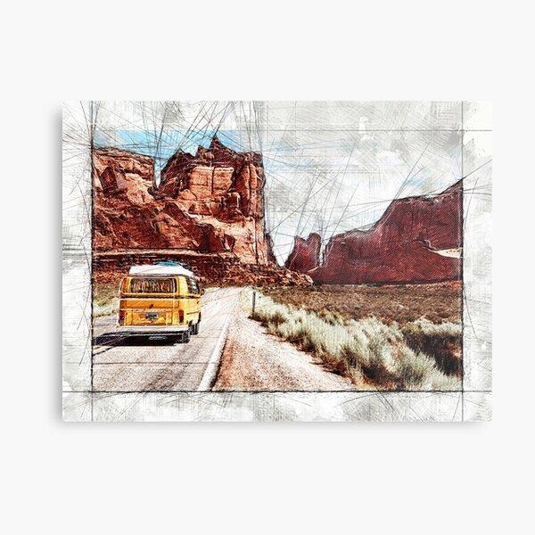 Arches National Park Sketch Metal Print