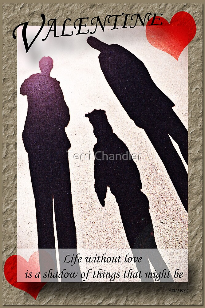 Family Shadows Valentine's Day Greeting by Terri Chandler