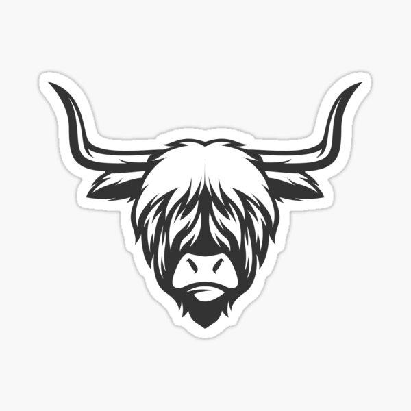 Highland Cow Illustration Sticker