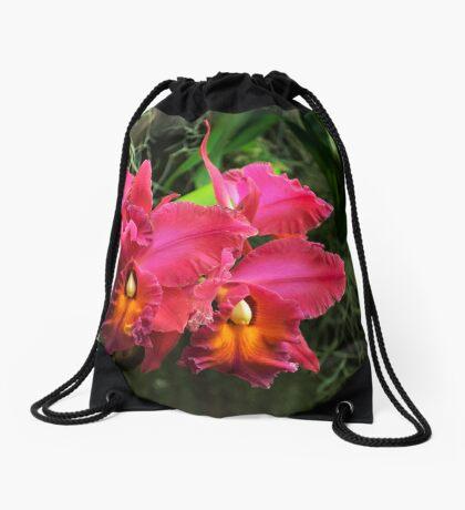 Orchid I Drawstring Bag