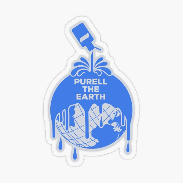 Purell The Earth Transparent Sticker