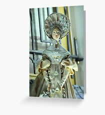 Doll in a beautiful dress Greeting Card