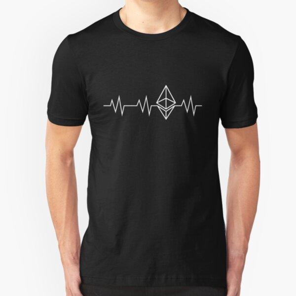 Ethereum Heartbeat Crypto Shirt Blockchain Revolution Slim Fit T-Shirt