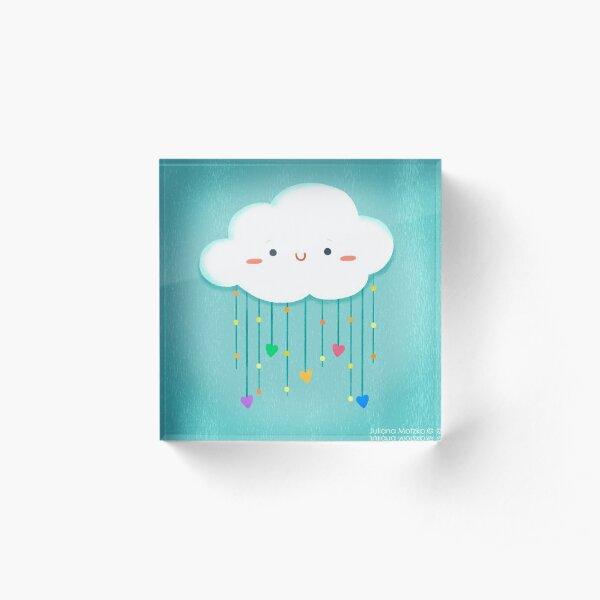 Cloud Love Acrylic Block