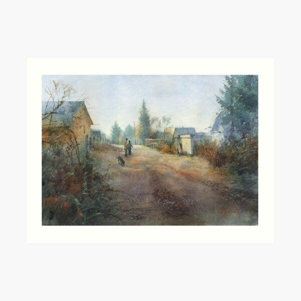Autumn. Morning. Rybachiy Art Print
