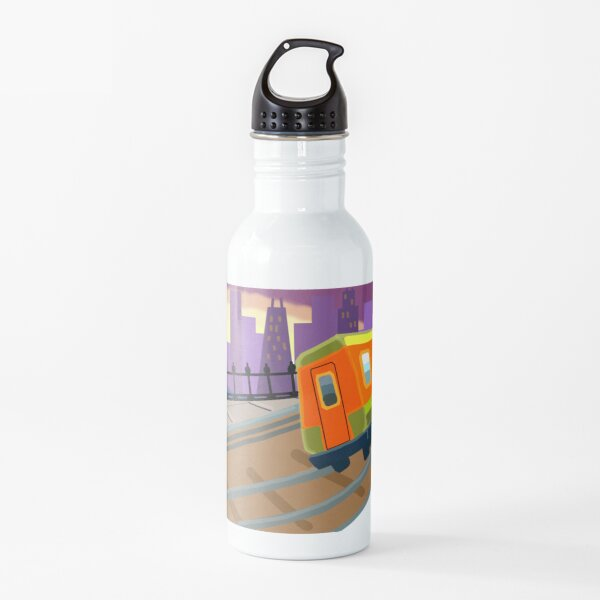 Night Time Subway Surf Water Bottle