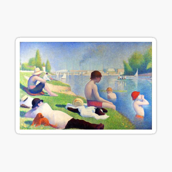 Bathers at Asnières Sticker